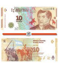 """Argentina 10 Pesos 2016 Unc pn 360a suffix """"B"""" Manuel Belgrano 1770-1820"""