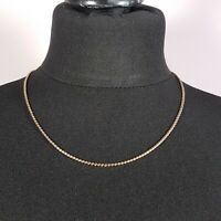 VINTAGE Gold Tone Necklace Chain Link Layering Thin Collar Length Retro 70s Look