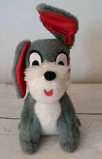 Vintage Lady And The Tramp Walt Disney Gray Dog Plush Stuffed Animal 12 inch
