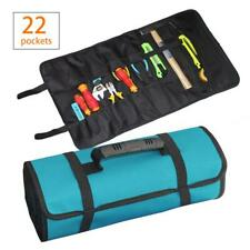 Roll Up Tool Pouch Wrench Socket Bag Hand Tool Storage Organizer Case Holder