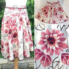 Nouveau IBLUES par Max Mara Lin/Coton Motif Floral Jupe UK14 Summer Folk Lagenlook