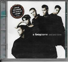 CD ALBUM 13 TITRES--BOYZONE--SAID AND DONE--1995