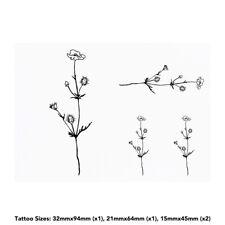 'Poppy Flower' Temporary Tattoos (TO013875)