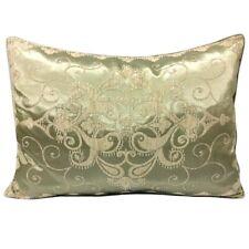 "Satin/Chenille Jacquard Beige-Mint 20""x28"" Home Decor Pillow Case/Cushion Cover"