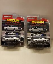 2 x Greenlight Collectibles Diecast Mecum Auctions 1965 Shelby GT350 SET OF 2
