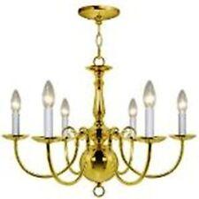 hampton bay 6 light chandeliers polish brass finish chandelier 6 lights - Brass Chandelier