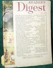 READER'S DIGEST 1950 MAY FORGOTTEN IN VA HOSPITALS;GROUCHO;MACARTHUR;ORLON;INDIA
