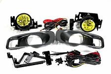 99-00 Honda Civic 2/4/3 door EK EM1 SI EX DX JDM Yellow Fog Light Kit + Harness