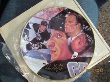 Wayne Gretzky & Gordie Howe Gartlan Signed Autograph Plate   limited