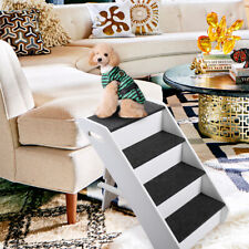 Pet Stairs Portable Cat Dog Ladder w/ Cover Step Ramp Climb For Paly 4 Steps
