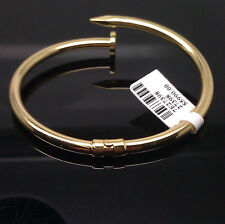 Brand New Genuine 18K Yellow Gold Nail Bangle/Bracelet For Men's/ Women's, Nail