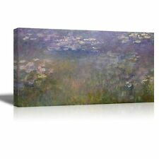 "Water Lilies by Claude Monet - Canvas Print Wall Art - 24"" x 48"""