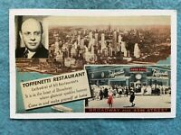 Toffenetti Restaurant on Times Square, New York  Vintage   Postcard