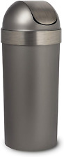 Umbra, Pewter Venti 16-Gallon Swing Top Kitchen Trash Large, 35-inch Tall Can or