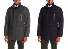 London Fog Men's Waterproof Breathable Wool Twill Coat Parka - NEW