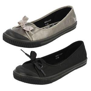 Angry Angels DIVA 6859 Niña/Mujer Zapatos Negros O Peltre Metálico (R2B)