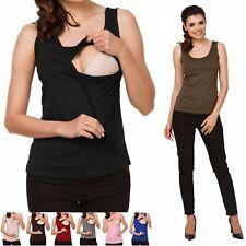 Zeta Ville - Women's Maternity Nursing Vest Top Sleeveless - Layer Design - 982c