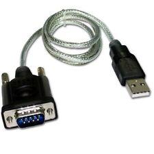 Cable serie RS232 macho a USB macho 1.5 M Transparente - G