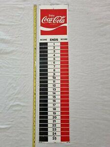 Vintage Enjoy Coca Cola Advertising Lawn Bowls Score Board End Screen Print Sign
