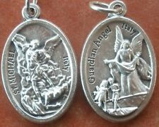 Saint St. Michael (the Archangel) Medal + with Guardian Angel on back +