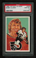 PSA 10 BOBBY CLARKE 1985 Hall of Fame Hockey Card #258 High Number Extension