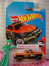 OFF-DUTY #114✰orange/black/yellow truck;or6✰HW RESCUE✰2017 i Hot Wheels case E