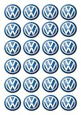 24 VW Volkswagon STAND UP Cupcake Cake Topper Edible Rice Paper Decorations