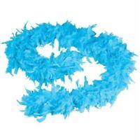 1.8M Blue Feather Boa Fancy Dress Costume Party Dance Wedding Xmas Night Strip