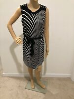 White House Black Market Women's short knit dress Size XS black/white striped