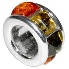 2.2g Authentic Baltic Amber 925 Sterling Silver Pendant Jewelry N-A439