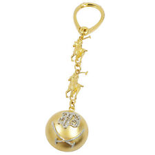 3400-18K YELLOW GOLD DIAMOND POLO THEME KEYCHAIN 0.11CTS 33.71GR