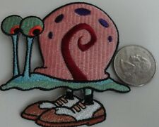 Gary the Snail Fancy Shoes Embroidered Iron On Patch - Spongebob Squarepants New