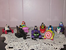 Batman & Friends with Vehicles PVC Action Figures (7 In Total)