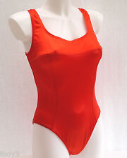 FAB 80's VINTAGE RED BAYWATCH STYLE LADIES SWIMMING COSTUME SWIMSUIT UK14 NEW
