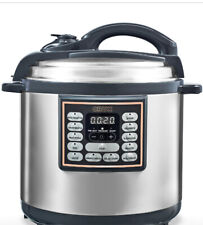 New Crux 8-Qt. 10-In-1 Stainless Steel Multi Pressure Programmable Multi-Cooker