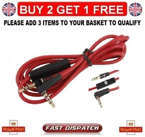 BEATS DR DRE CONTROL TALK CABLE MIC-REPLACEMENT FOR SOLO/STUDIO HEADPHONES UK