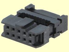 100 pcs. Pfostenverbinder Pfostenbuchse 10polig Flachbandkabel mit Zugentl.  #WP