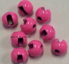 """TUNGSTEN SLOTTED FLY TYING BEADS HOT PINK 3.5 MM 1/8 """" 100 COUNT"""