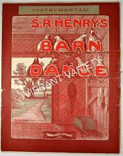 Barn Dance S.R. Henry's 1908 Sheet Music Large Format Farm Country Chicken art