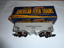 American Flyer #640 Gray Painted Hopper Car with Black Lettering & Original Box
