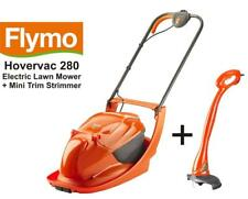 Flymo Hovervac 280 Electric Hover Lawn Mower 28cm 1300W + Mini Trim Strimmer