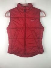 (U11) Tommy Hilfiger Jeans Womens Red Zip Up Puffer Vest Size Small