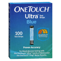 100 ONE TOUCH ULTRA BLUE TEST STRIPS *FREE SHIPPING* DINGED/DAMAGED - 5+ MONTHS