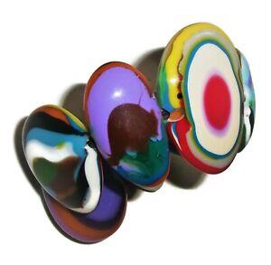 Sobral Kandinsky Wassily Reversible Large Beads Artist Made Statement Bracelet