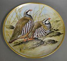 Wandteller Franklin Porcelain 1979 Limoges Red Legged Patridge #8