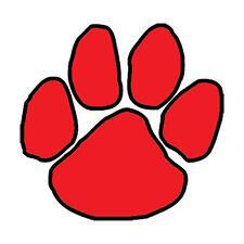 25 Red Paw Temporary Tattoos, School Spirit Mascot Face Tats