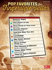 POP FAVORITES FOR FINGERSTYLE GUITAR TAB SHEET MUSIC SONG BOOK