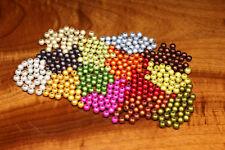 3D Beads ROT Ø 6mm 30 St. Hareline Gelenkstreamer Kunststoffperlen 3D Beads RED