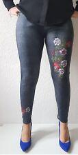 Leggins Gr.40-48Jeans Optik Fell  Damen Warmehose Winterleggins Leggings Thermo