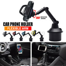 Universal Car Mount Adjustable Gooseneck Cup Holder Cradle For iphone Cell Phone